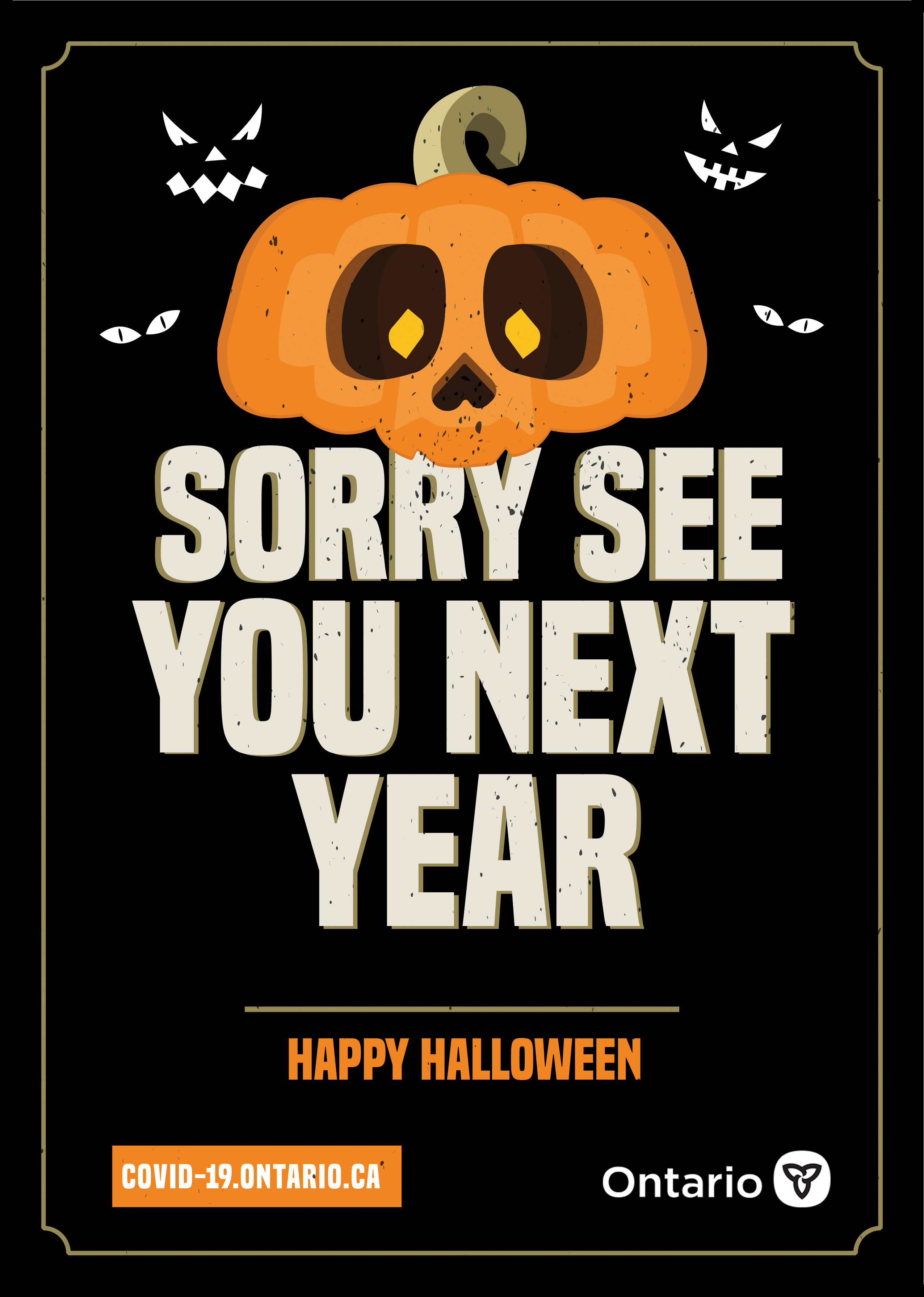 Sorry See You Next Year Poster