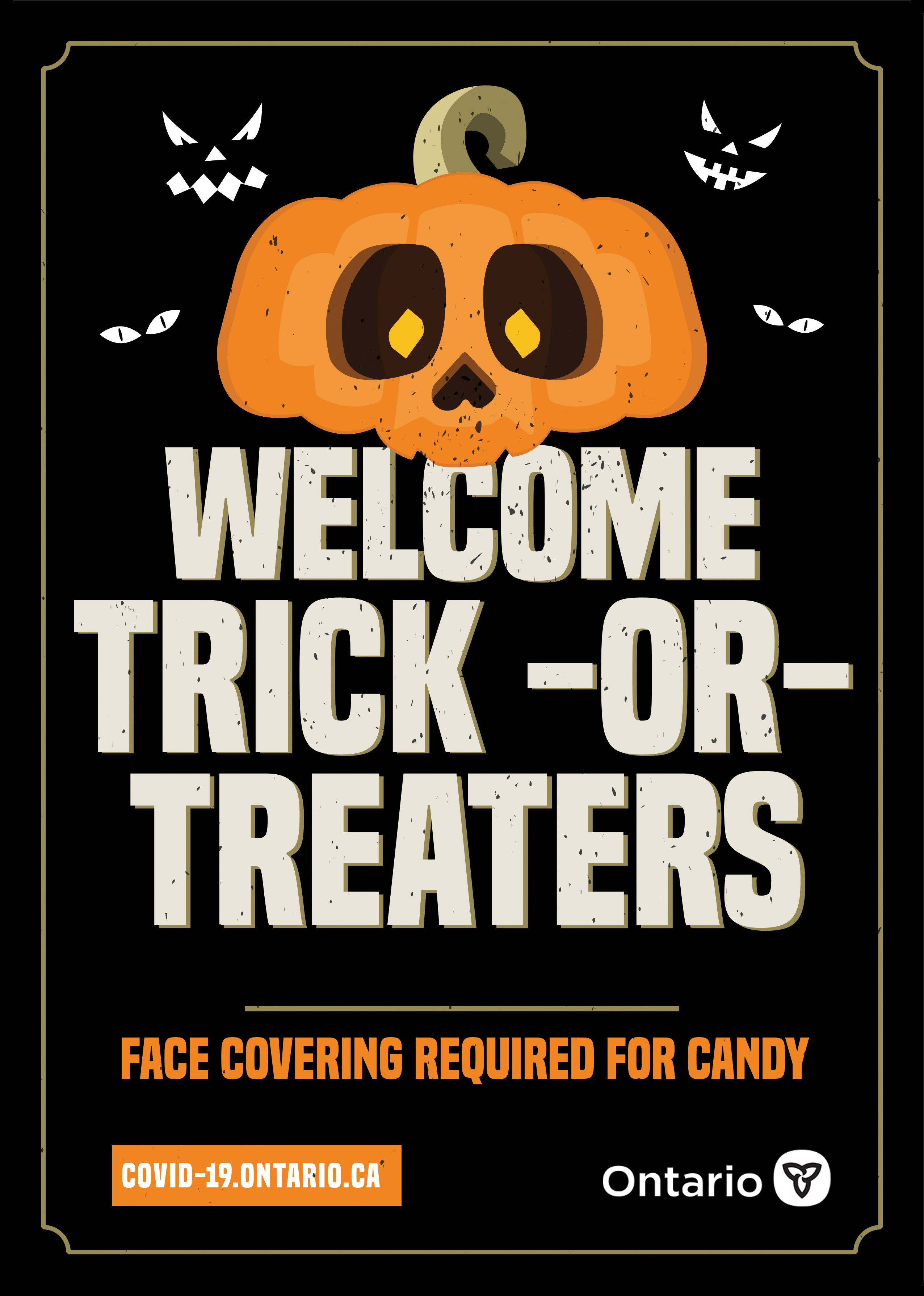 Welcome Trick or Treaters Sign